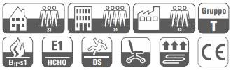 specifiche tecniche icone